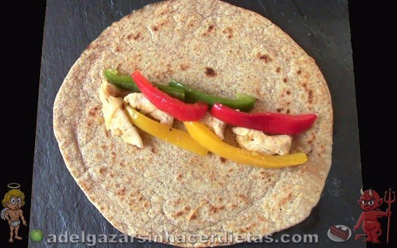 Receta saludable de tortillas de harina integral baja en - Comidas sanas y bajas en calorias ...