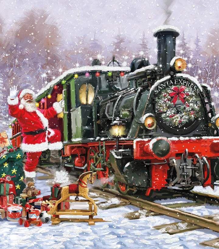 многих новогодний паровоз в чудесной рекламе коркунов картинки время
