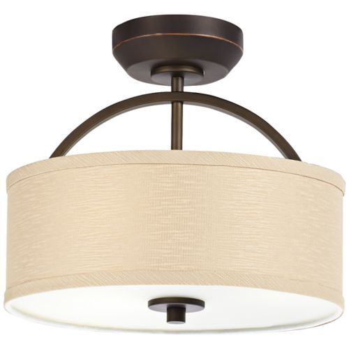 Danville Linen Drum Shade Bronze Ceiling Fan Light Kit Fan Light