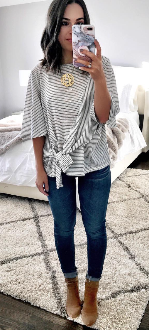 Side Tie Tee Clothes Fashion Style