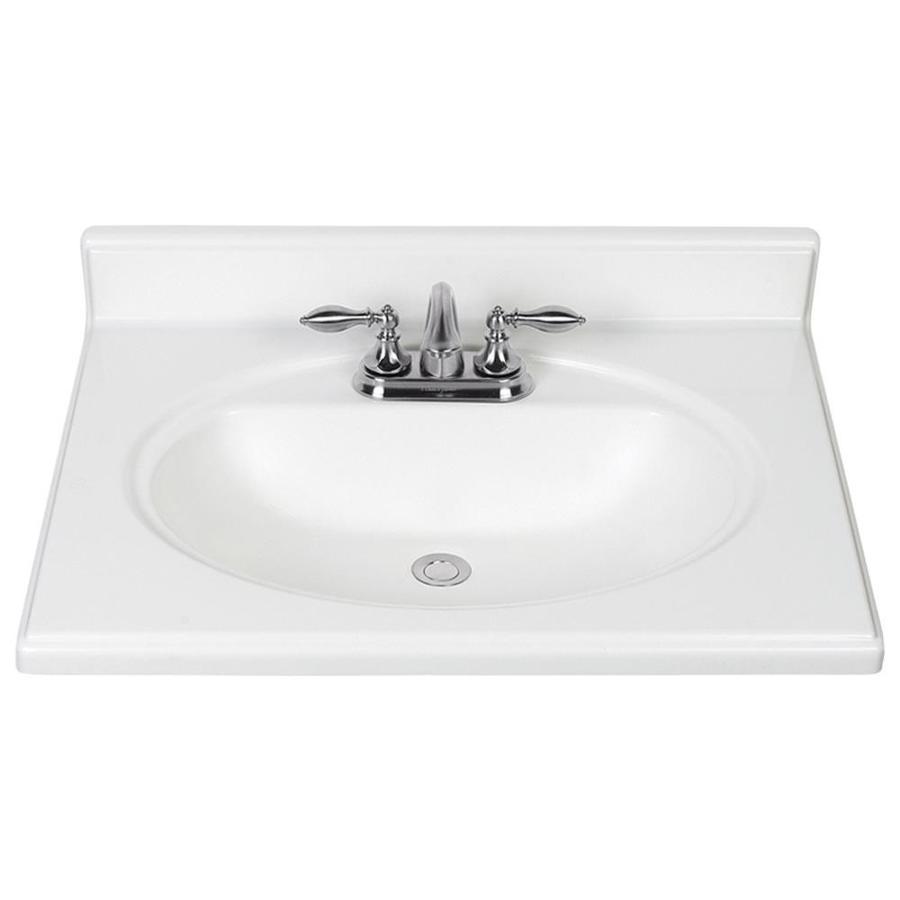 25in White Cultured Marble Bathroom Vanity Top at Lowes