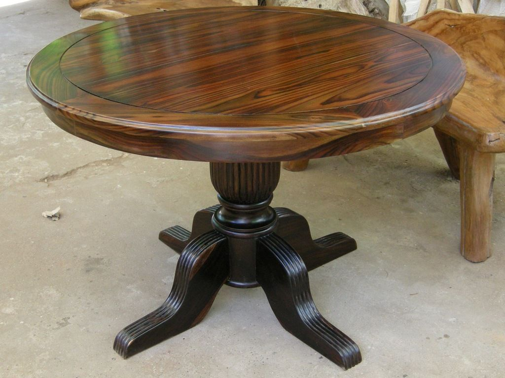 Meja Makan Kayu Solid Trembesi Craft Table Solid Wood