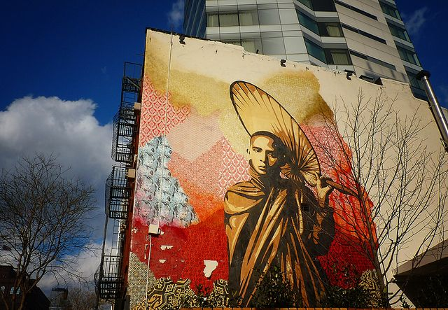 Shepard Fairey Mural, Cooper Square Hotel, East Village, New York City 875 by Vivienne Gucwa, via Flickr