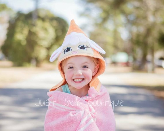 Lamb Hooded Towel Hooded Bath Towel For Baby Toddler Hooded