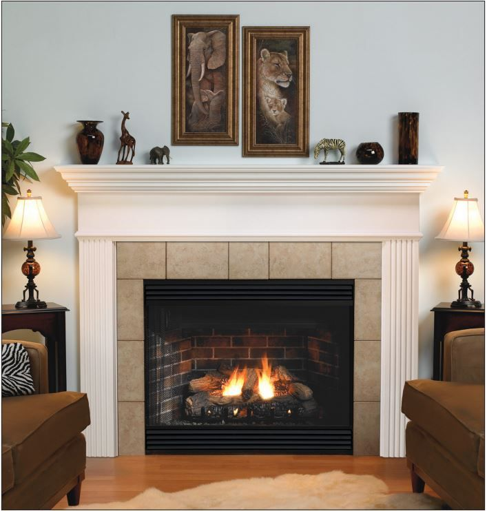 Empire Keystone Deluxe B Vent Louvered Gas Fireplace 34 Bvd 34 Fp30lnn In 2020 With Images Vented Gas Fireplace Gas Fireplace Cottage Style Kitchen