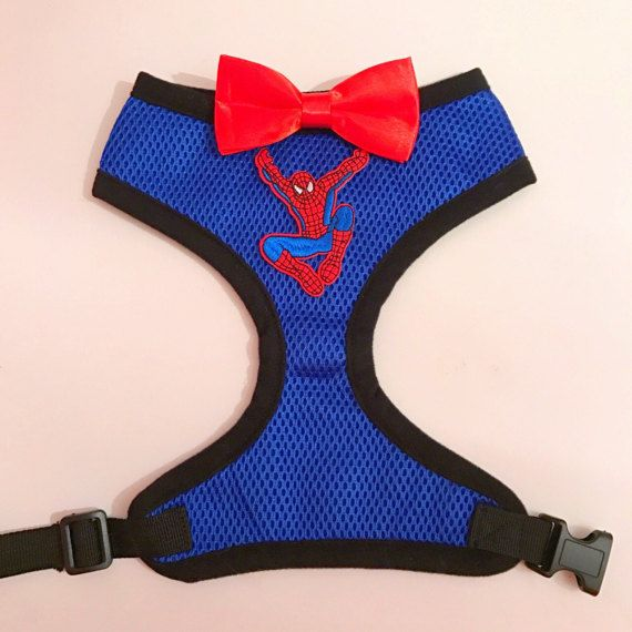 Spiderman dapper dog harness by Homeiswherethepugis on Etsy