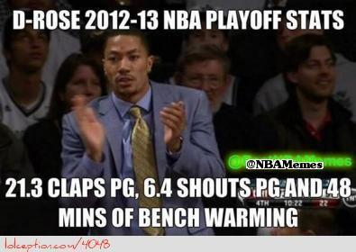 Funniest Meme Ever 2012 : D rose statistics! http: weheartchicagobulls.com nba funny meme d