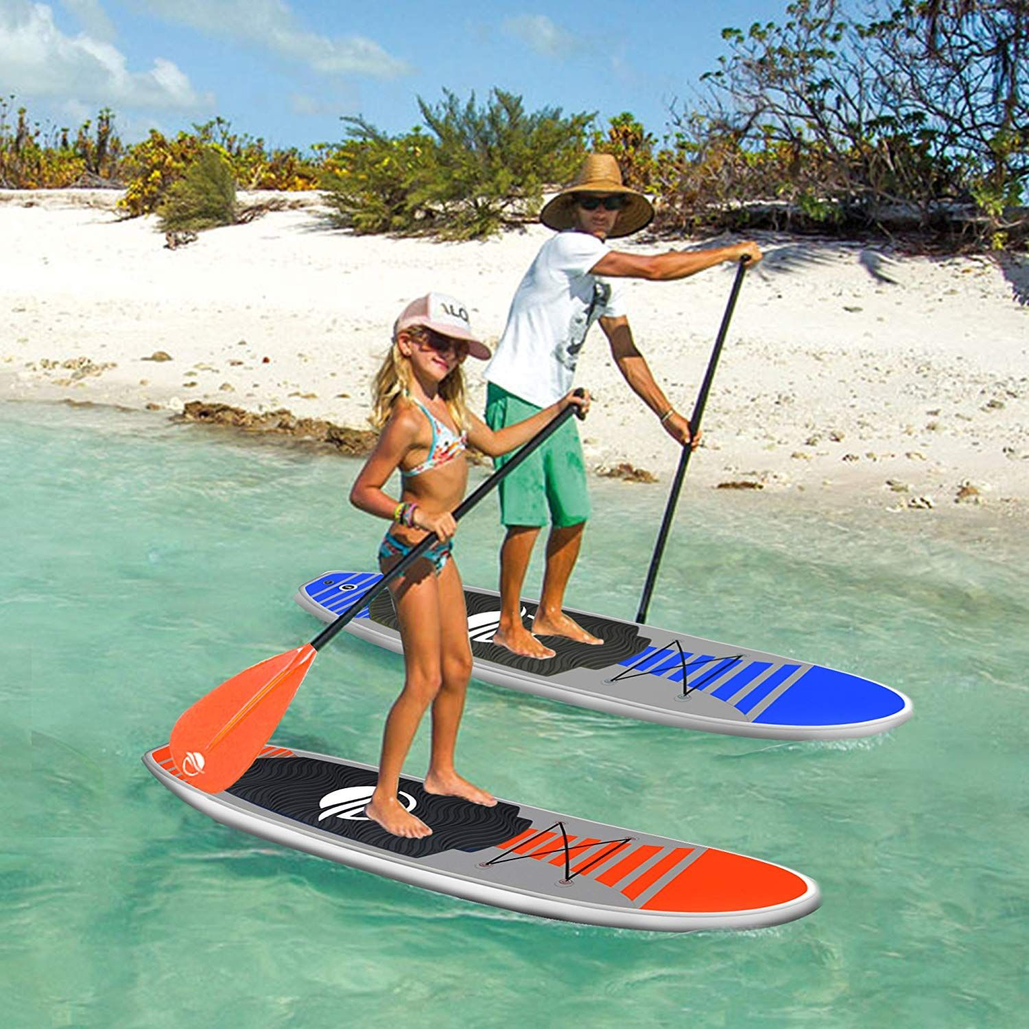 Serenelife Premium Inflatable Stand Up Paddle Board 6 Inches Thick With Sup Accessories Carry Ba Paddle Boarding Standup Paddle Inflatable Paddle Board