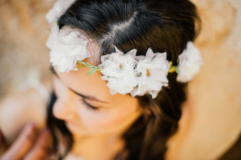 Haarkranz ''anoushka'' no.4 Hochzeit Seidenblüten von anoushka auf DaWanda.com