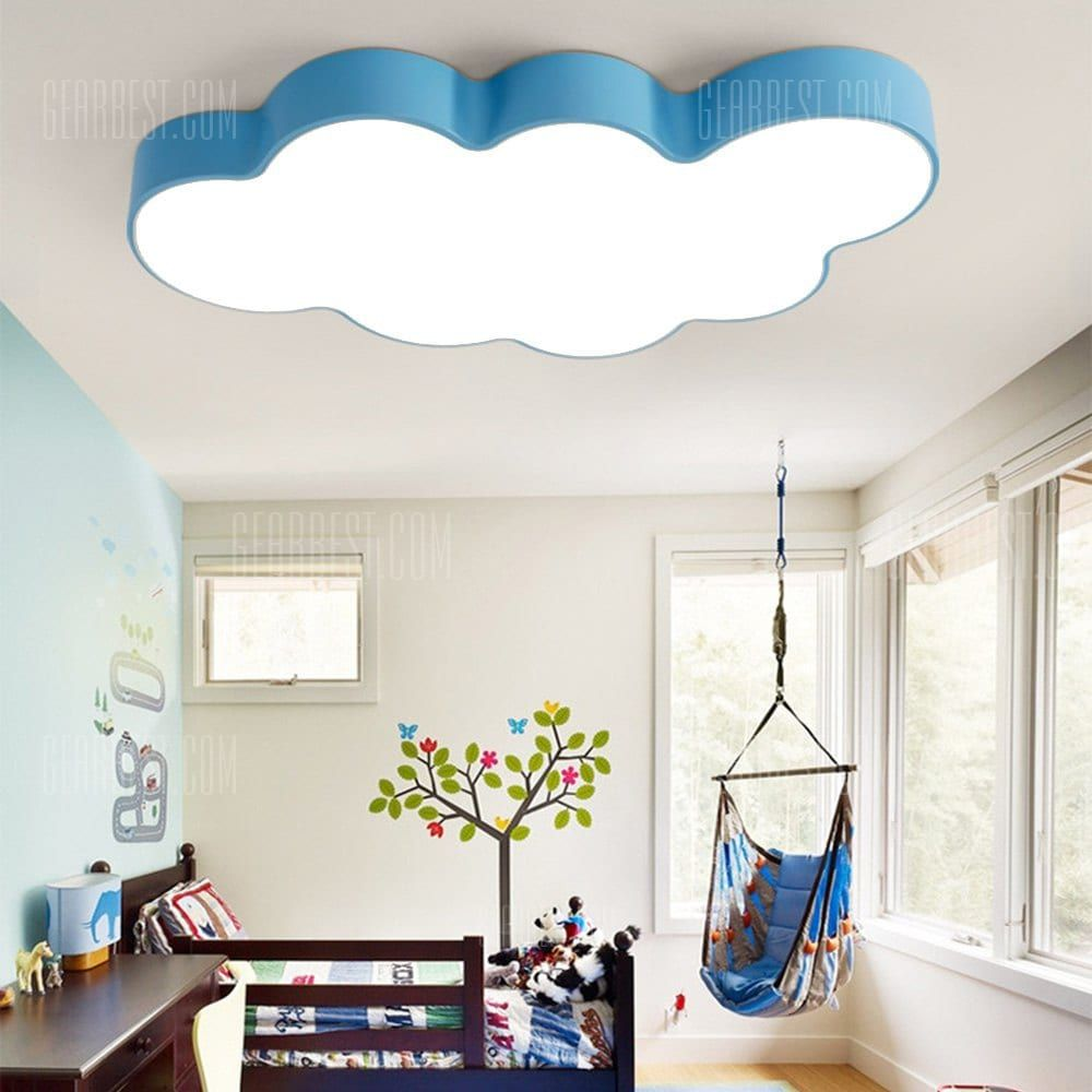 Brelong Led Cloud Ceiling Light Children S Bedroom Cartoon With White Blue Color In 2020 Childrens Bedroom Lighting Bedroom Ceiling Light Ceiling Lights