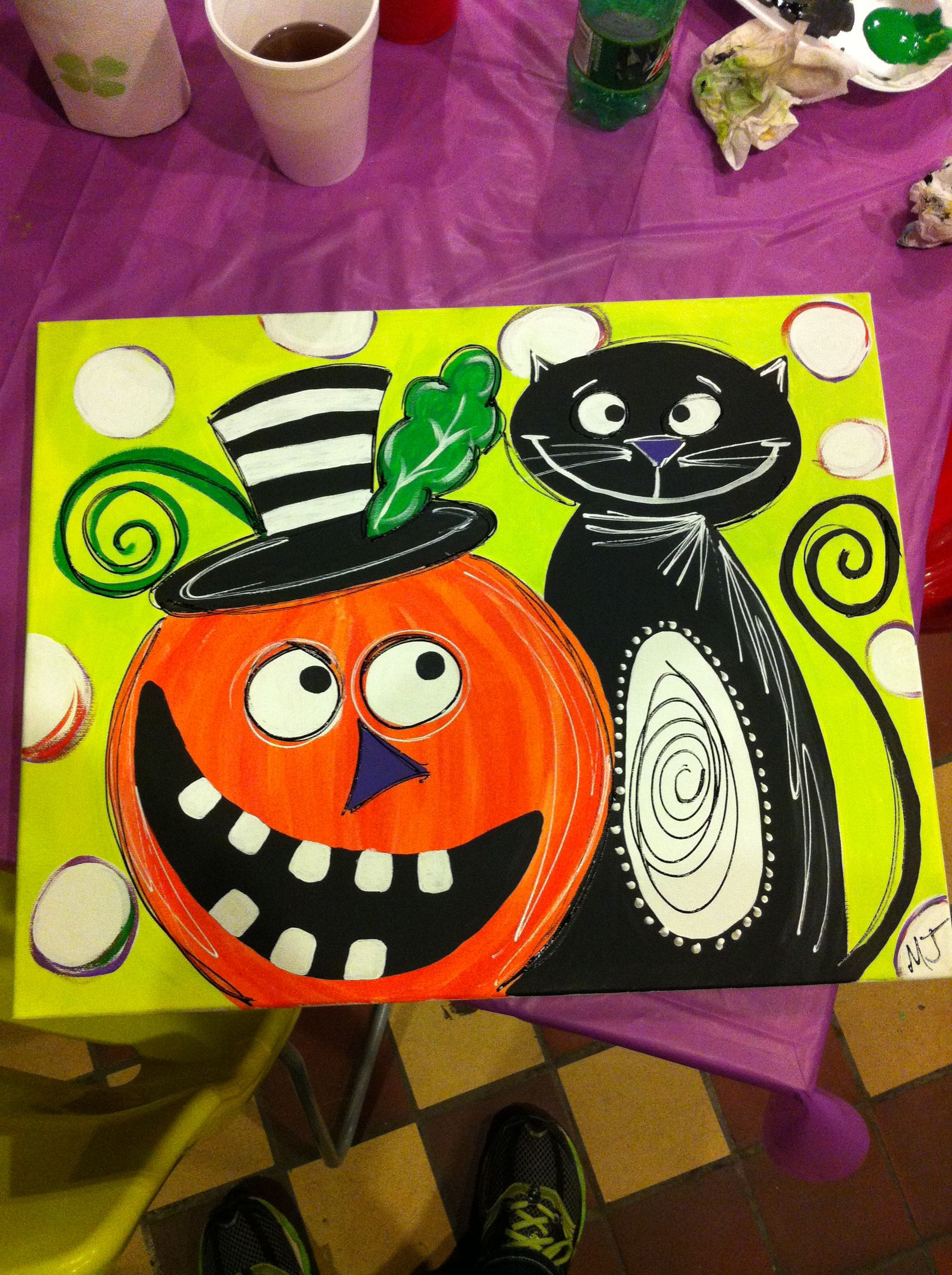 Pin By Mikki Lex On Canvas Diy Ideas With Images Halloween Canvas Art Halloween Painting Kids Canvas Art