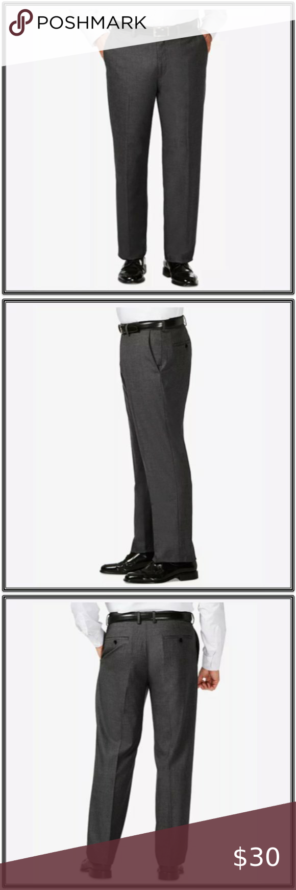 Jm Haggar Big And Tall Classic Fit Dress Pant Fitted Dress Pants Black Dress Pants Men Polyester Dress Pants [ 1740 x 580 Pixel ]
