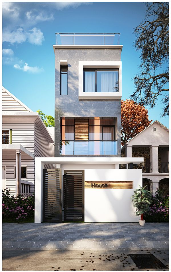 Nha Pho Design Inspiration Pinterest Architecture, House and