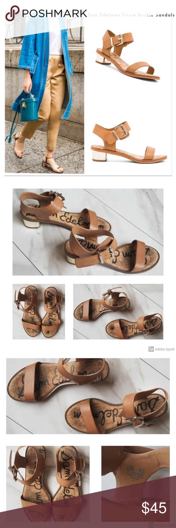 67b92861f0e7a8 Sam Edelman Trixie Camel Sandals