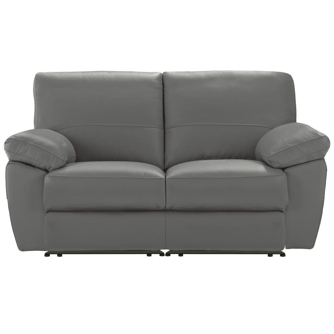 Lucas 2 Seat Leather Manual Recliner Sofa Reclining Sofa Leather Recliner Sofa