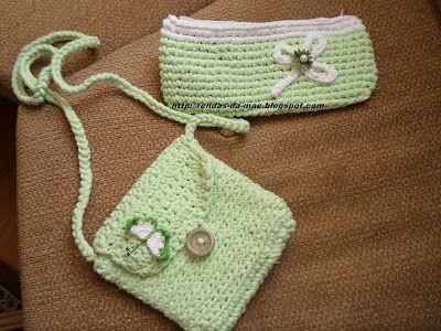 Rendas da Mãe: Bolsas de trapilho