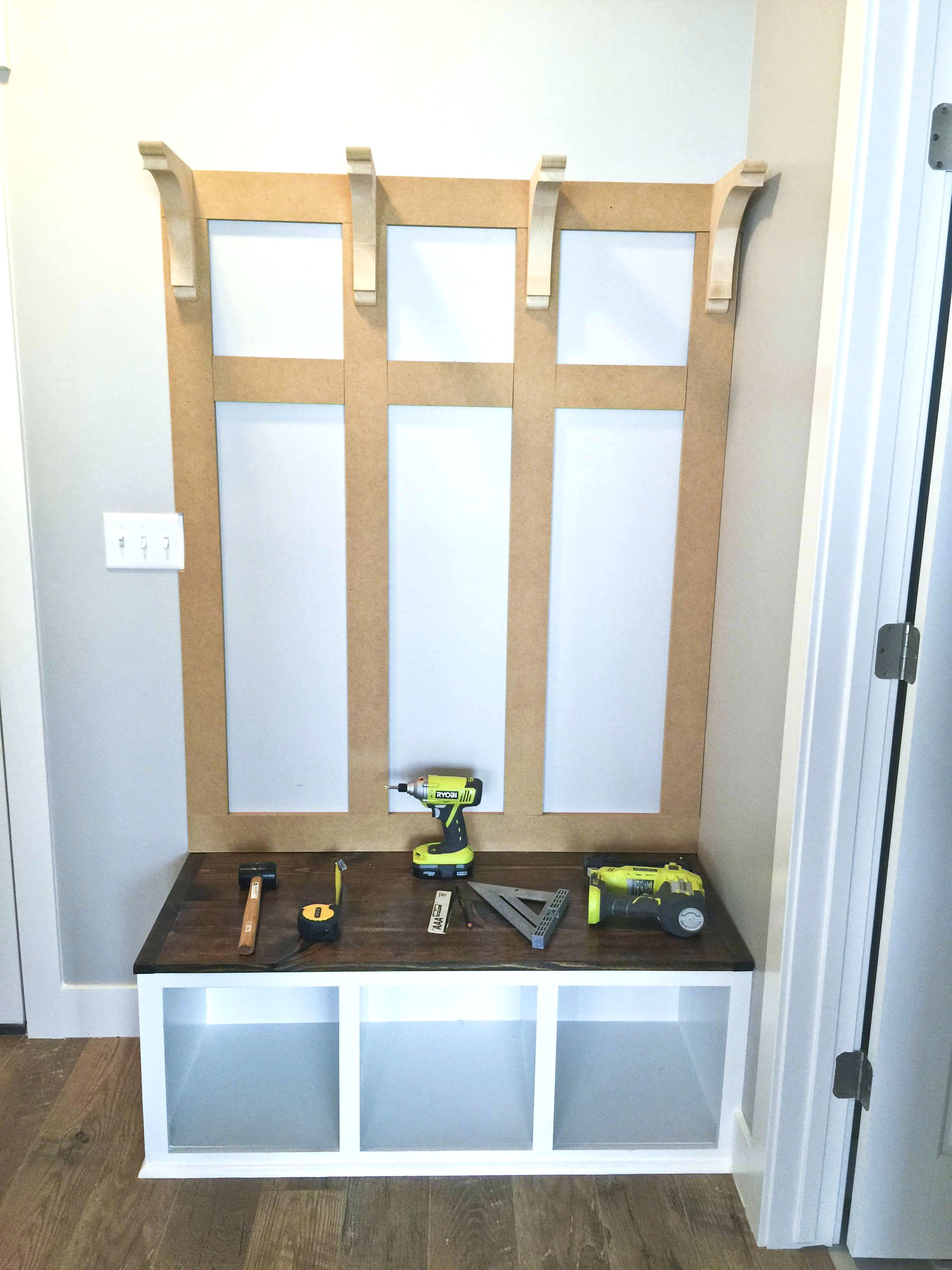 Diy mudroom bench part 2 entryway bench plans ana white entryway bench plans free mudroom bench plans diy benches mudroom bench designs