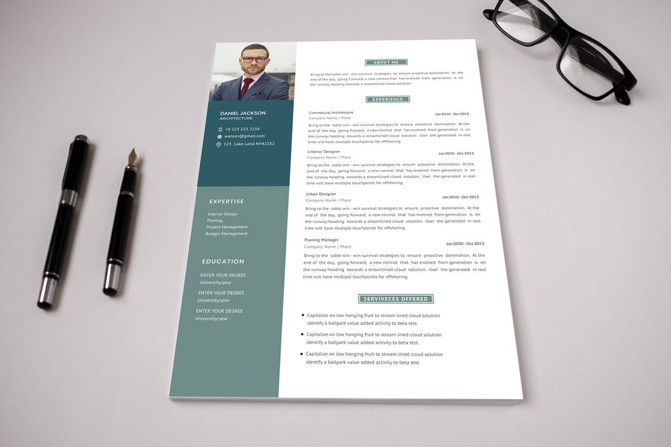 Corporate CV Template by VictorThemesNX on Cv template