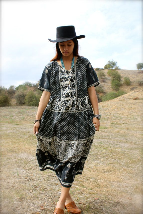 2285541463 L/XL Gauzy Vintage Indian Dress Elegant Hippie Circa by Vdingy, $78.00