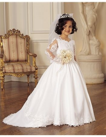 bfeb01c6d75a Beautiful mini bride #flowergirl dress with a detachable train. The perfect  dress to match the bride on your #wedding day.
