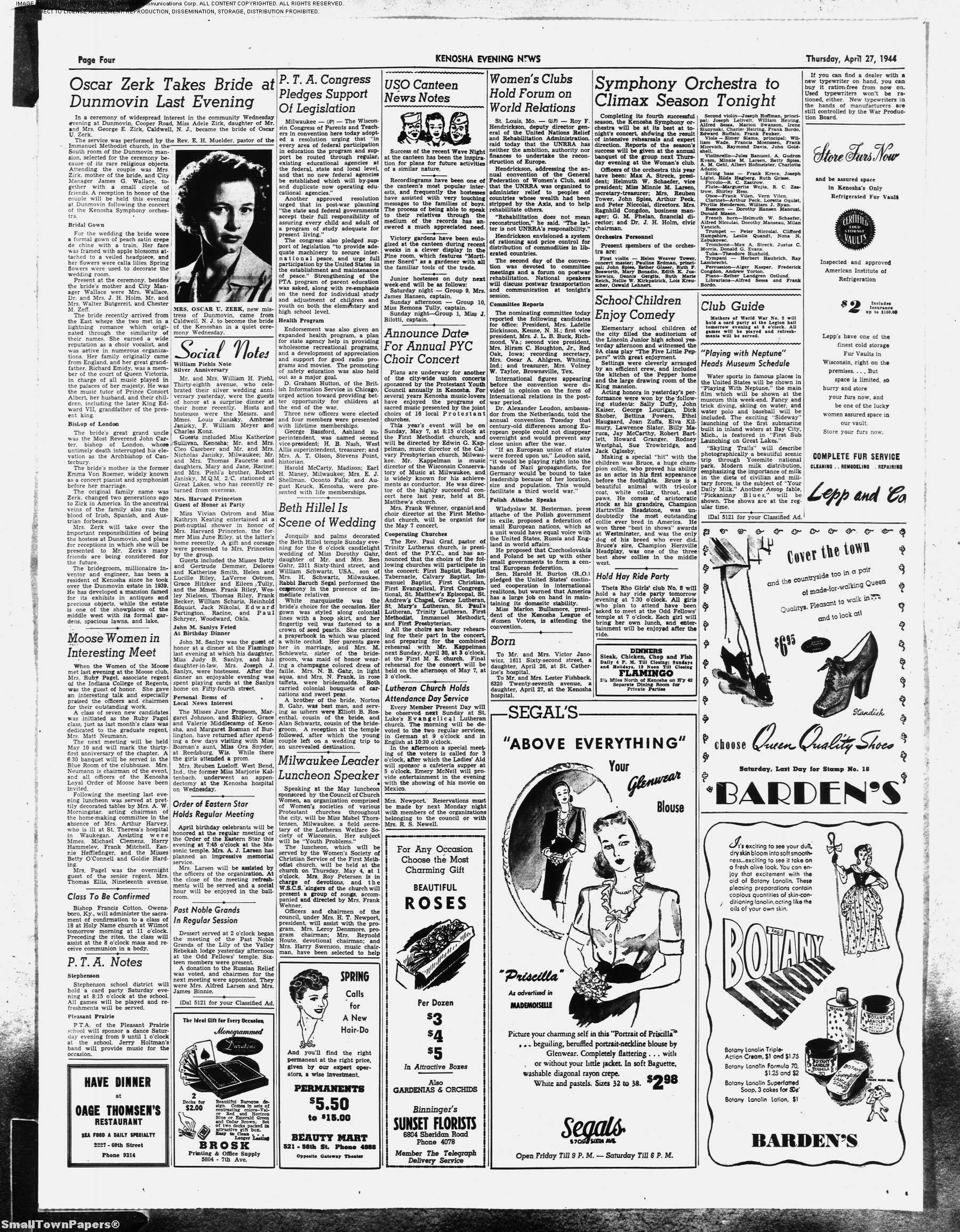 Kenosha News Newspaper Archive Kenosha ...