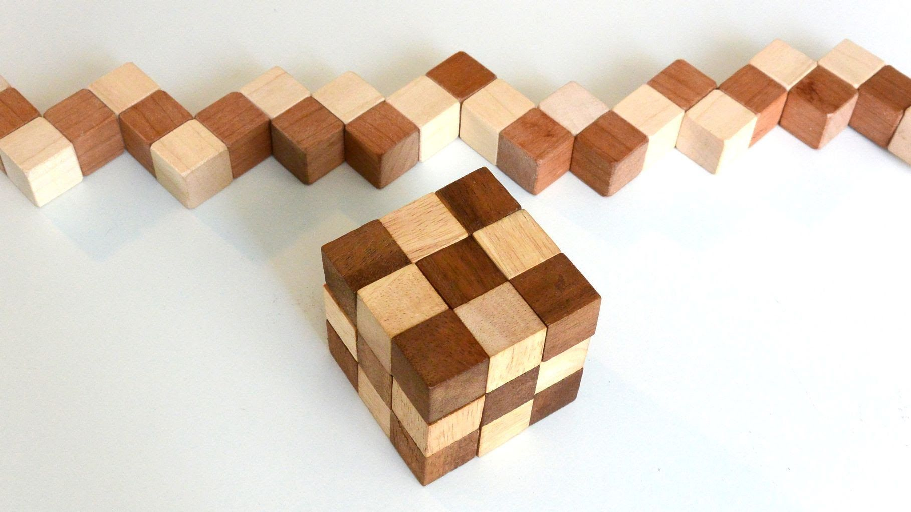 building a snake cube puzzle | puzzle and wooden