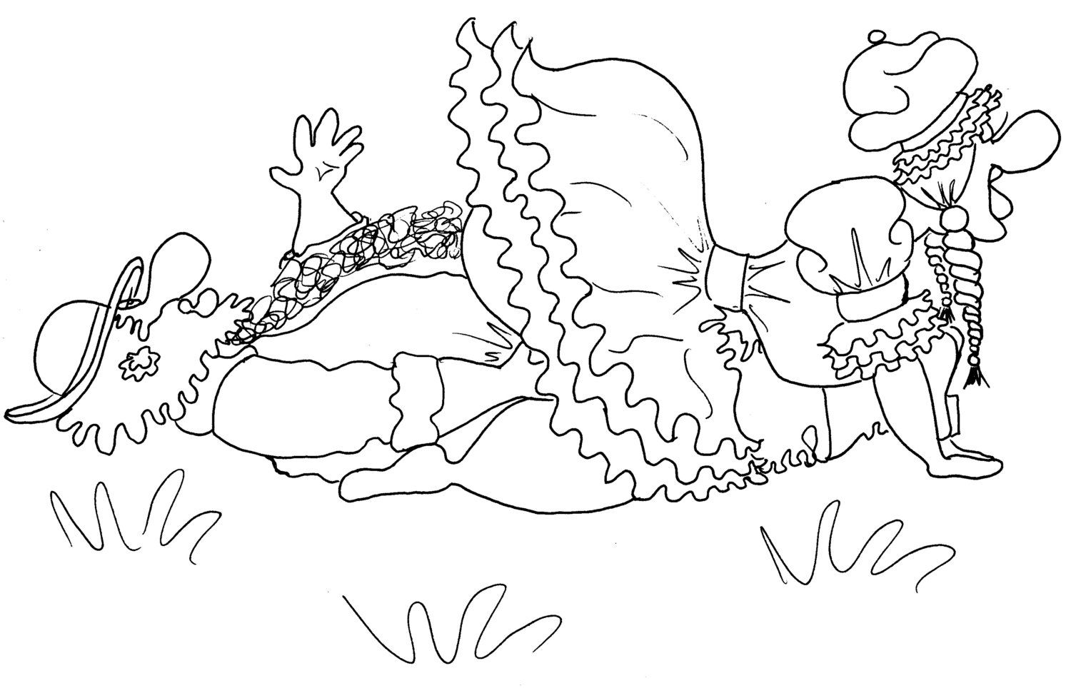 the rider kama sutra position sexy coloring pages from the chubby art cartoon colouring book - Sexy Coloring Pages