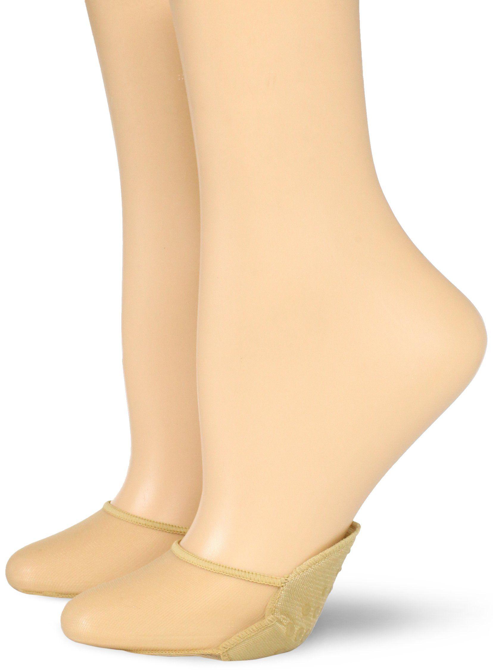 Pack of 24 No Nonsense Nylon Nude Sheer Liner Shoe Socks