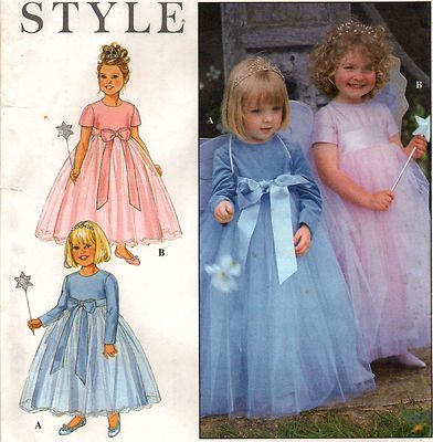 00ba1899a13 TODDLERS FAIRY PRINCESS 4 LAYER TULLE DRESS COSTUME FLOWER GIRL Pattern  S1 2-4 on eBay!