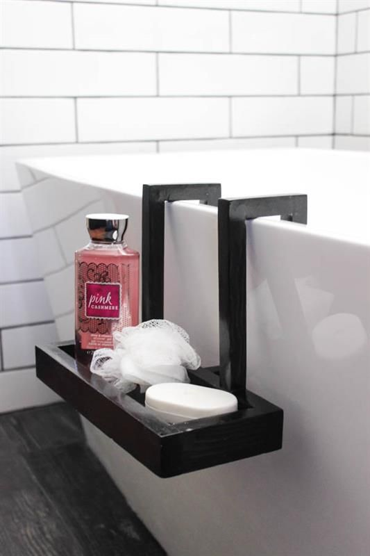 Build This Beautiful Modern Bath Caddy For Your Freestanding Tub