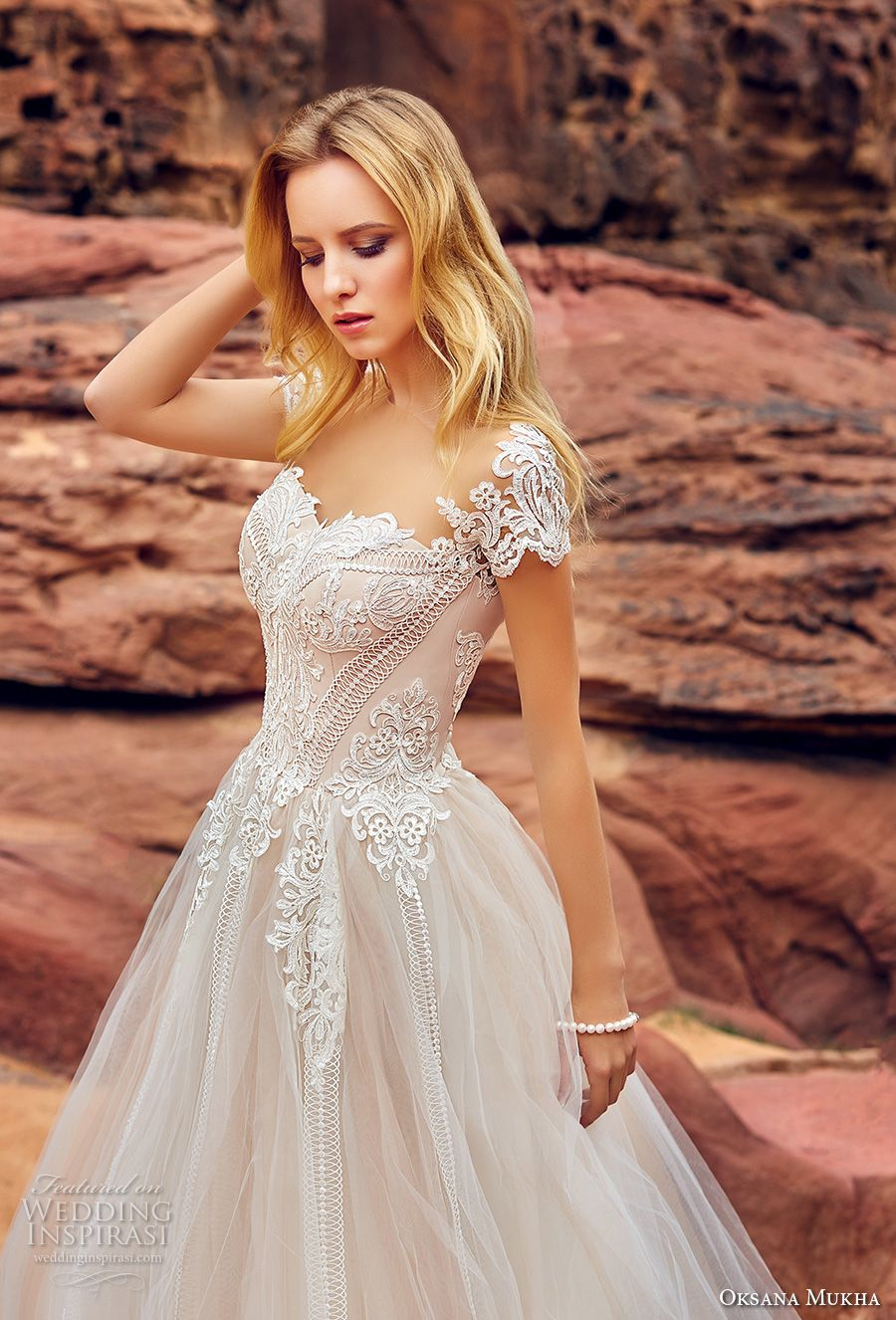 Wedding dress without train  Oksana Mukha  Wedding Dresses  Chapel train Bodice and Romantic