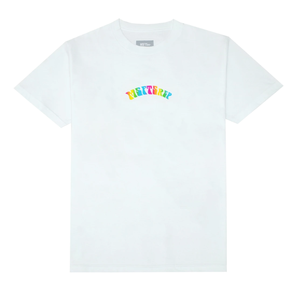 Trippy Logo T-Shirt, White - MSFTSrep in 2020 | Tshirt ...
