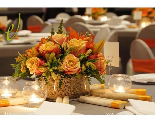 Centro de mesa con rosas en Don Eventos