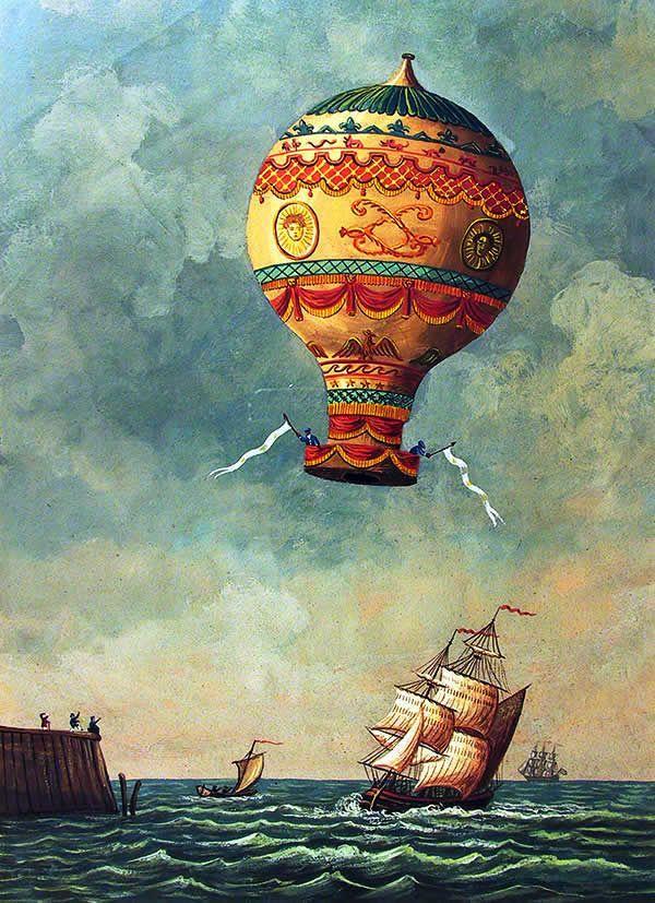 transparent 19 century balloon Google 搜尋 Hot air
