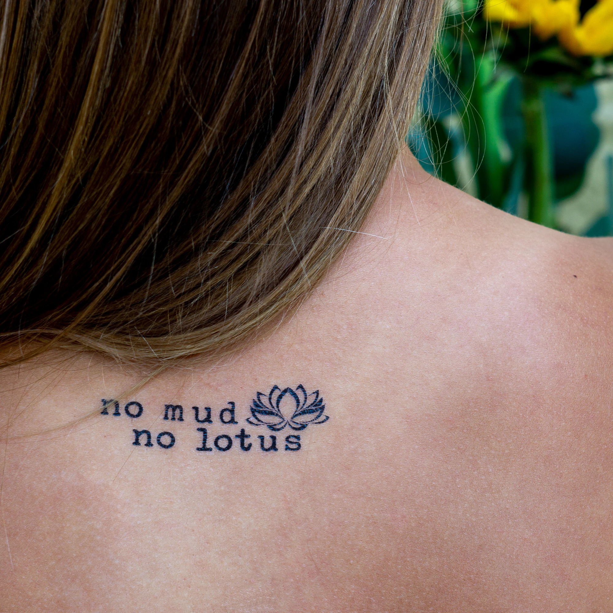 No Mud No Lotus Empowering Temporary Tattoo Reminding You That The Suffering Is Necessary No Mud No Lotus E In 2020 Consciousness Tattoo Tattoos Mud