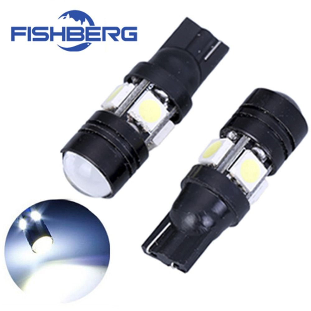 2pcs Lot T10 Led W5w Light Bulbs 5050 Smd Lens 4 Led 12v Parking 194 168 Xenon White Red Blue Green Yellow Wedge Fishberg C T10 Led Yellow Wedges Car Lights