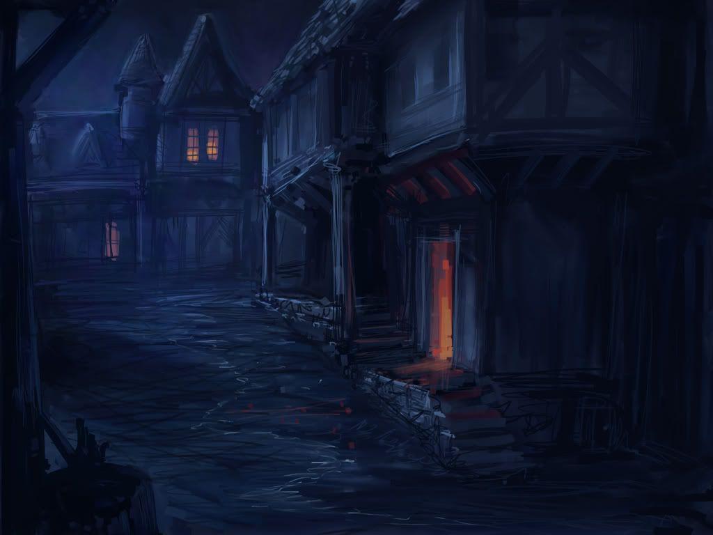 Dark Alley Fantasy Art