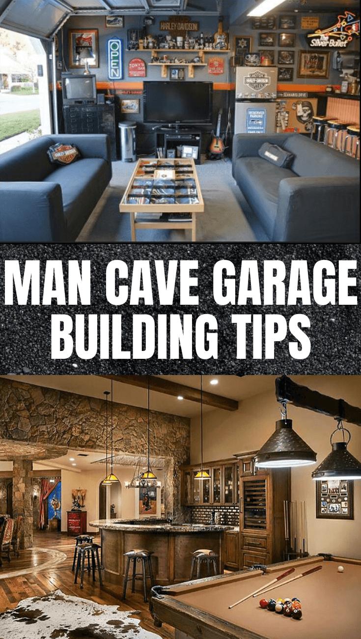 Man Cave Garage Building Tips Man Cave Garage Garage Design Basement Remodeling