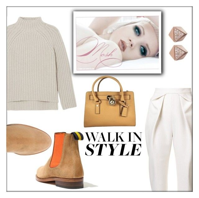 """""""Walk in style"""" by frenchfriesblackmg ❤ liked on Polyvore featuring Delpozo, Madewell, Theory, MICHAEL Michael Kors and FOSSIL"""