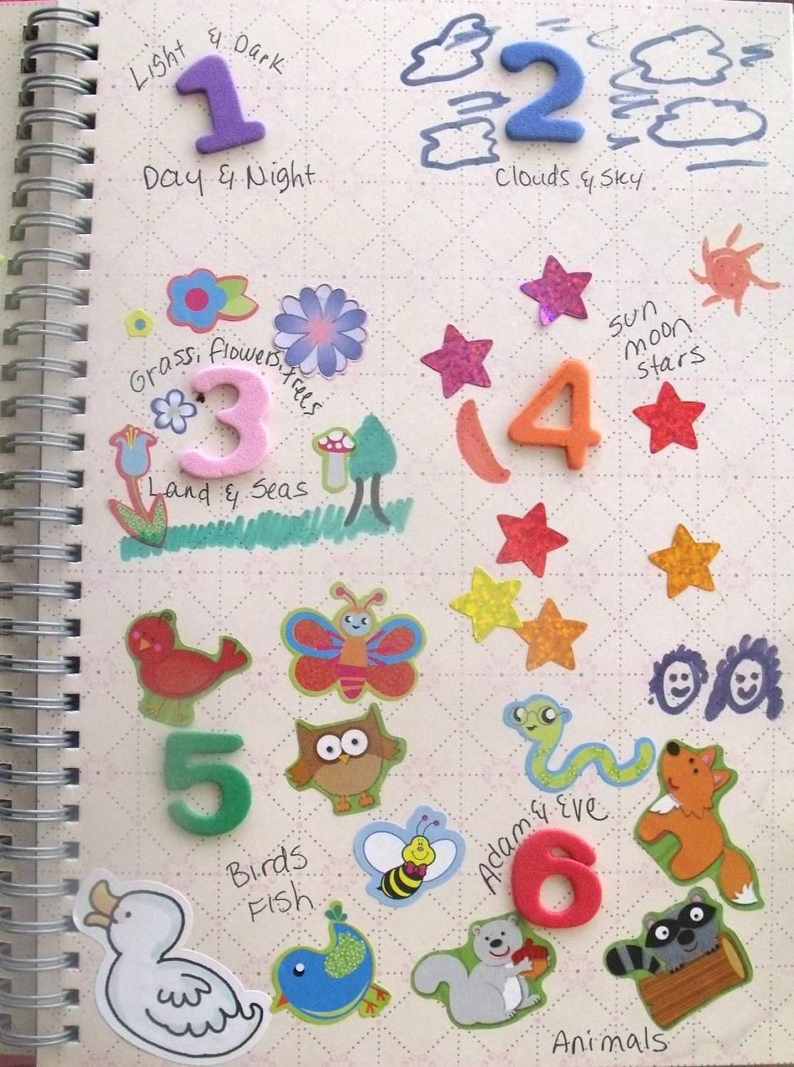 7 Days Of Creation Lesson Ideas From Bible Fun For Kids Maybe Have A Page For Each Day And Hang