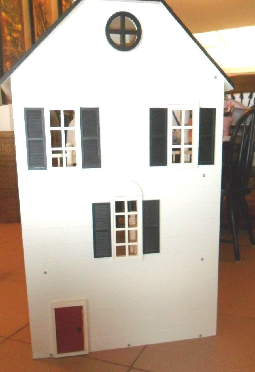 Pottery Barn Kids RARE Large Doll House Fully Loaded w Furniture ...