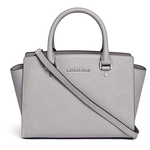 3c9144c6a146 Michael Kors 'Selma' medium saffiano leather satchel (1.250 RON) ❤ liked on