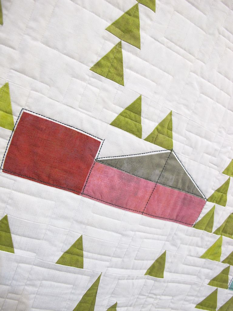 Eichler Homes by Mickey Beebe, quilted by Tami Levin, the Quilted Lemon