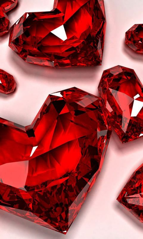 Wallpapervn Com Diamond Wallpaper Heart Wallpaper Red Aesthetic