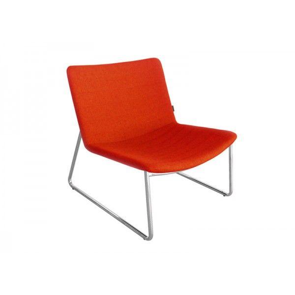 rode design lounge stoel