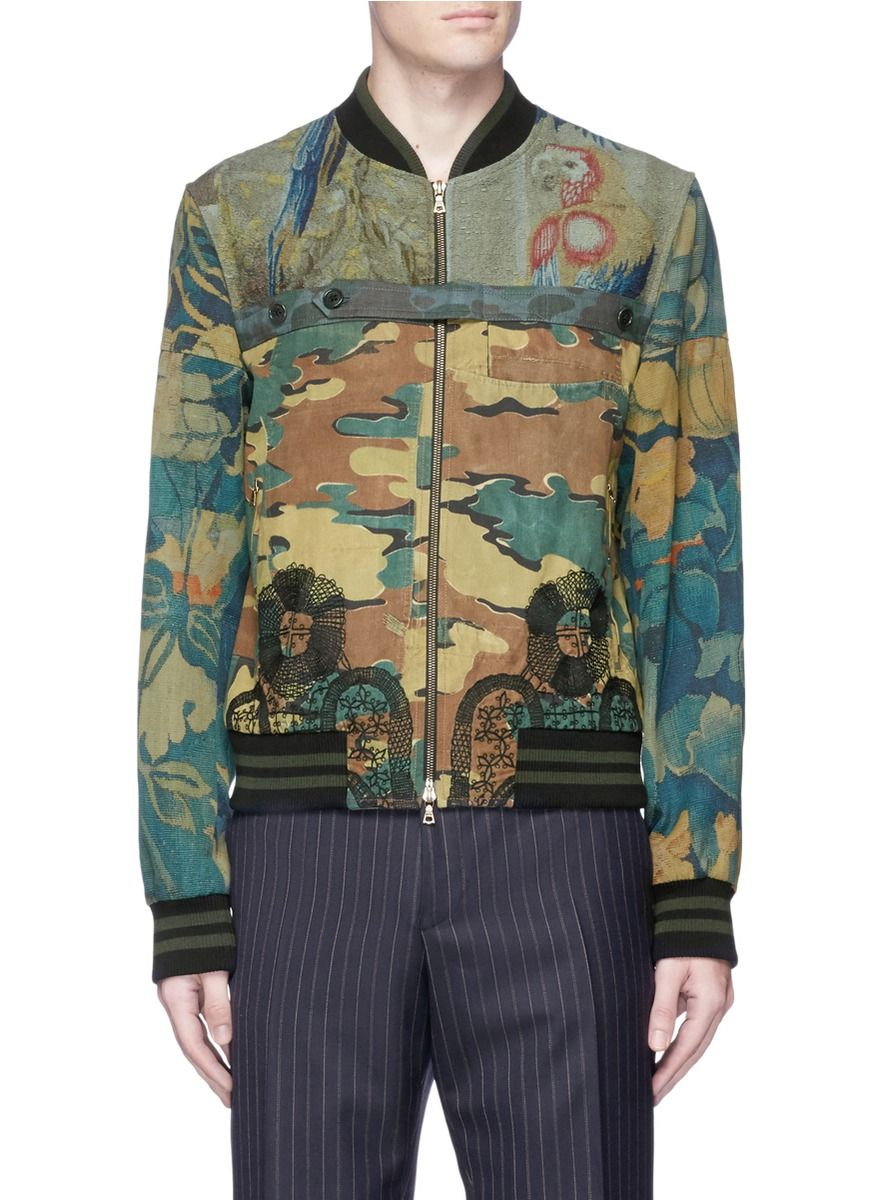 685d3d8b81 DRIES VAN NOTEN Camouflage And Tapestry Print Bomber Jacket.  driesvannoten   cloth  jacket