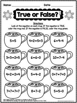 Winter No Prep Math 1st Grade Fun Math Worksheets Kindergarten Math Worksheets Winter Math Worksheets