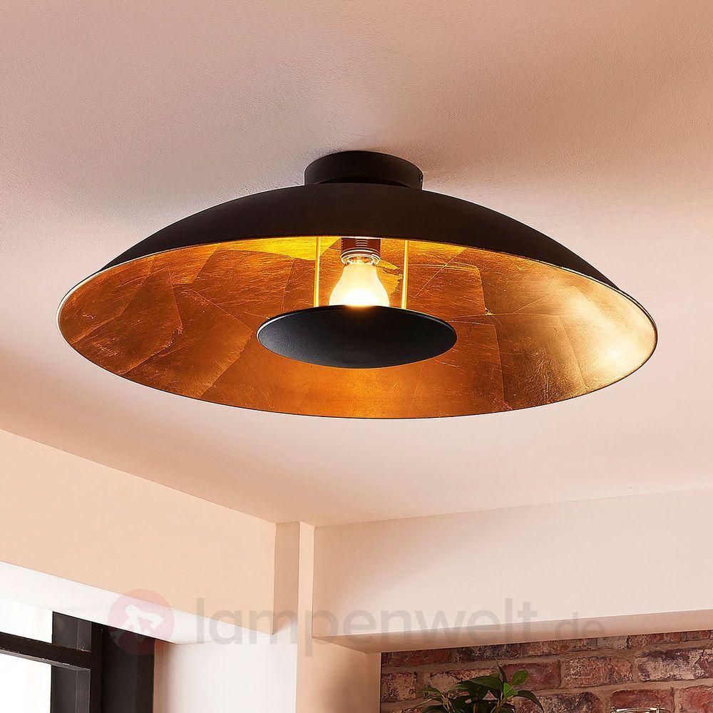 AuBergewohnlich LED Deckenleuchte Emilienne Schwarz Gold Indirektes Licht Lampenwelt  Wohnzimmer | Möbel U0026 Wohnen, Beleuchtung
