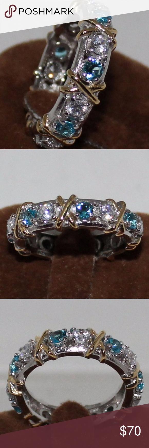 Woman's Ring Woman Blue Diamonique 030 Wedding Ring