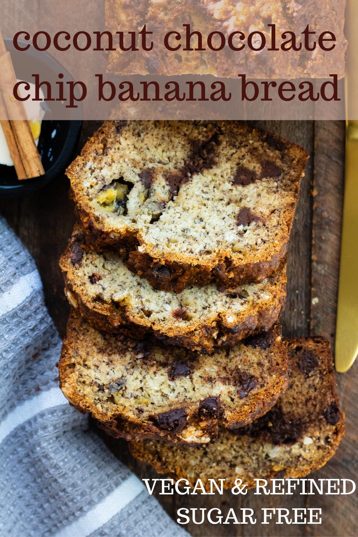 Coconut Chocolate Chip Banana Bread Home Cooked Roots Recipe Chocolate Chip Banana Bread Vegan Banana Bread Recipe Vegan Banana Bread Easy